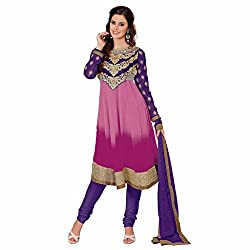 Ashika Printed Salwar Suit Dupatta (Unstitched) Dress Material (8524)