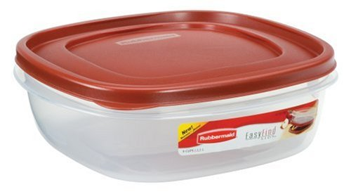 Rubbermaid 7J71 Easy Find Lid Square 9-Cup Food