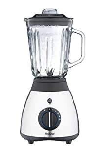 VonShef Premium Jug 600W Blender & Grinder with 1.5L Glass Jug - Pulse & Ice Crushing Function and Multi-mill Attachment by VonShef