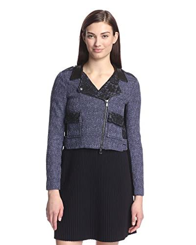 Rebecca Taylor Women's Tweed Jacket with Lace