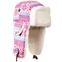 Aviator, Cotton Poly Knit, Faux Fur Lined - HS815 (Pink)
