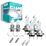 55w Clear Xenon High (main) / Low (dipped) / Fog / Side beam upgrade HeadLight Bulbs VAUXHALL VECTRA C GTS 16V Turbo 08.02->