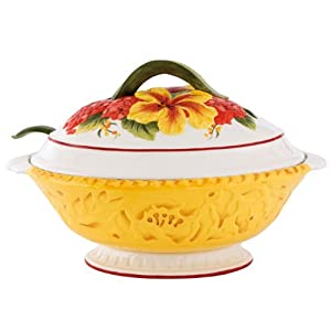 Fitz and Floyd Flower Market Tureen by Fitz and Floyd