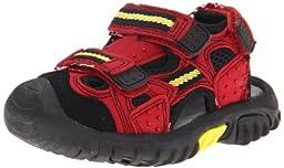 Jumping Jacks Power Sand Sport Sandal (Toddler/Little Kid),Red  ,35 EU(3 M US Little Kid)