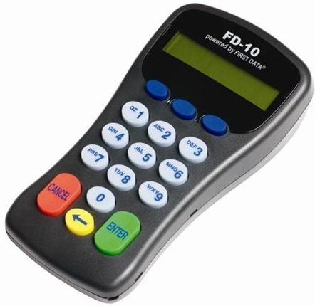 FIRST DATA FD-10 PIN-PAD DEBIT CARD KEYPAD READER