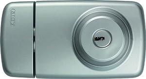 ABUS 532962 7025 S Tür-Zusatzschloss mit Innen- und Außenzylinder, silber