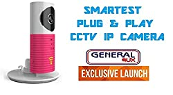 Clever Spydog World's Smartest Plug & Play Wireless Wifi CCTV IP Camera Smart Monitoring System Spy Cam Smart Monitoring System Pink - General Aux Special!