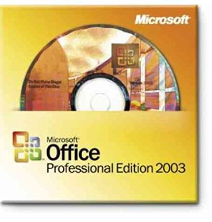 Microsoft Office 2003 Professional Edition [Word, Excel, Outlook, Powerpoint, Publisher, Access]