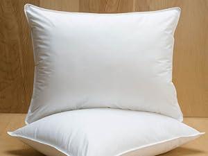 Amazon Com Extra Firm White Goose Down Pillow Pillow Size