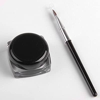 Professional Waterproof Black Elegant EyeLiner Beauty Gel Mascara + Eyeliner Brush Makeup Tools