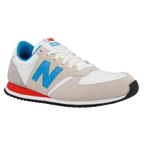 New Balance 420 Mens Suede & Nylon Trainers White Blue 8.5 Us