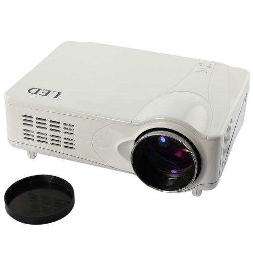 Home Cinema Lcd Hd Projector 2200L Led Scart Ypbpr Hdmi 3D Original Box & Bnib White