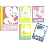 【Disneyミッキー&ドナルド】キャンパスノートA罫5冊パック★Campus★