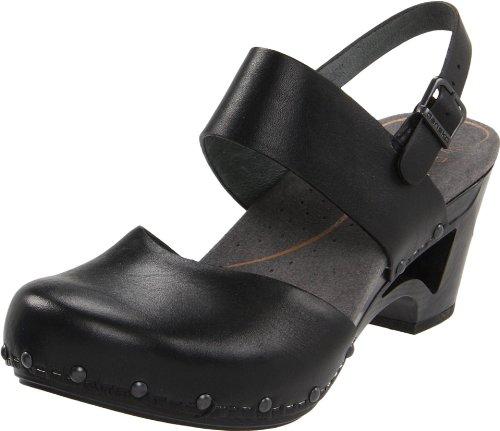 Dansko Women's Thea Ankle-Strap Sandal,Black,40 EU/9.5-10 M US