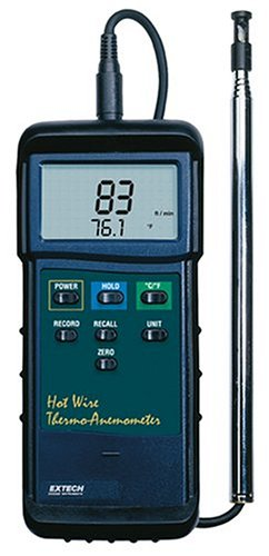 Extech 407123 Hot Wire Thermo Anemometer (Tamaño: 0.50 dia., 37 Telescoping)