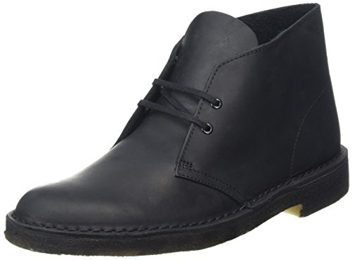 Clarks Originals Boot, Stivali Desert Boots Uomo, Nero (Schwarz Beeswax Leather), 44.5 EU