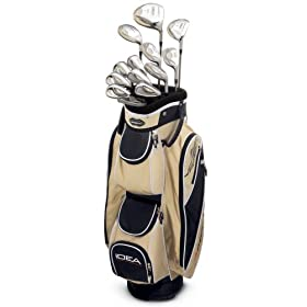 Adams Golf A3OS 13-Piece Ladies Intergrated Set (1,3, & 5 Wood, 4-9 Hybrids, PW, GW, SW, & Mallet Putter)  - Sand
