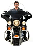 National Cycle Fairing Windshield Clear 18 1960-1985 Harley Davidson FLH With Factory Handlebar Mount Fairing 20030