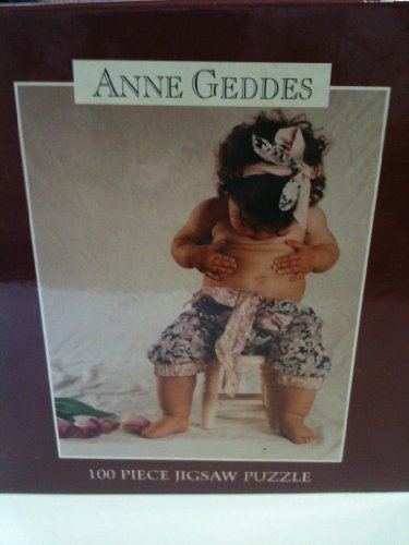 "Anne Geddes 100 Piece Jigsaw Puzzle ""Little Girl Looking at Her Belly Button"" 9""x 7"""