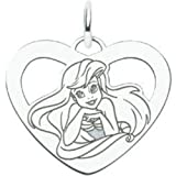 St Silver Disney Princess Ariel Heart Charm Jewelry