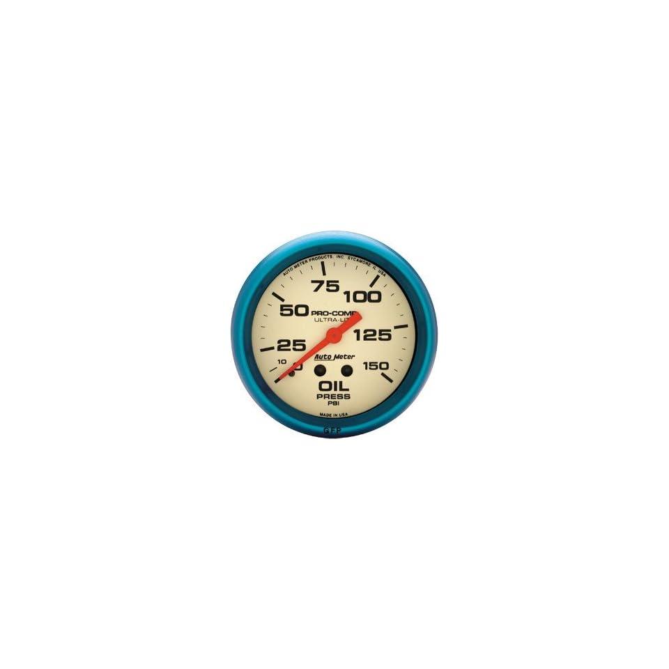 "Auto Meter 2312 Gauge Oil Pressure 2 5//8/"" 0-100psi Mechanical Black Auto Gage"