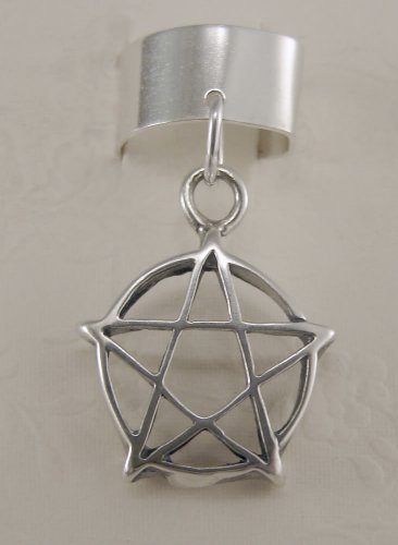 A Perfect Pentacle on a Sterling Silver Ear Cuff