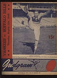 August 12th 1948 NFL Program New York Yankees vs. Buffalo Bills VG+ - NFL Programs and Yearbooks