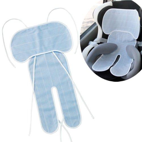 ベビーカー用 チャイルドシート用 蒸れ防止 冷感クールシート クールでドライな清涼チャイルドシートカバー ブルー アイデア 便利
