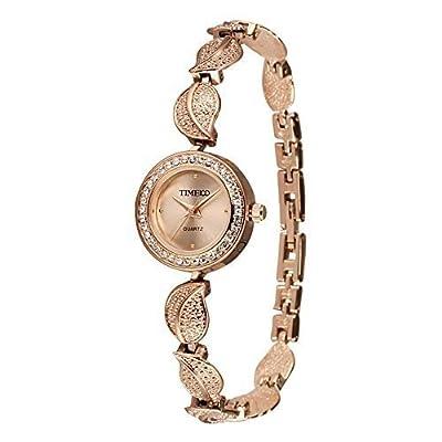 Ladies Quartz Bracelet Rose Gold Coloured Watch By Time100