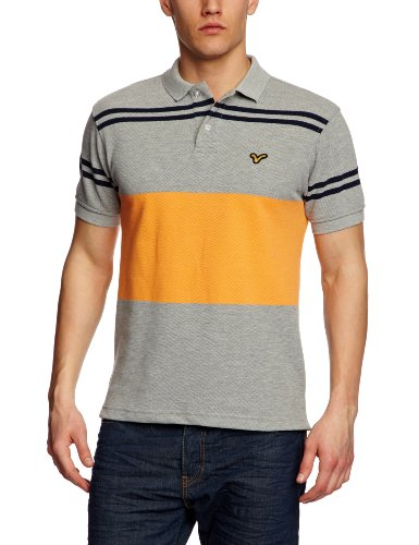 Voi Roam Stripe Polo Men's T-Shirt Grey Marl X-Large