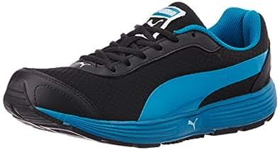 Puma Men's ReefFashionDP Black, Blue Jewel and White Running Shoes - 10UK/India (44.5EU)