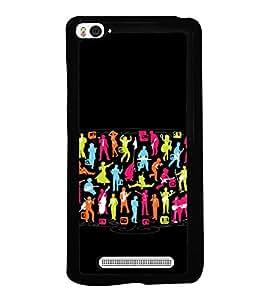 Colourful Music Band Graffiti 2D Hard Polycarbonate Designer Back Case Cover for Xiaomi Mi 4i :: Xiaomi Redmi Mi 4i