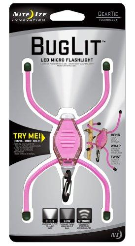 Nite Ize Bgt12W-07-0112 Bug Lit Led Flashlight, Pink/White front-76824