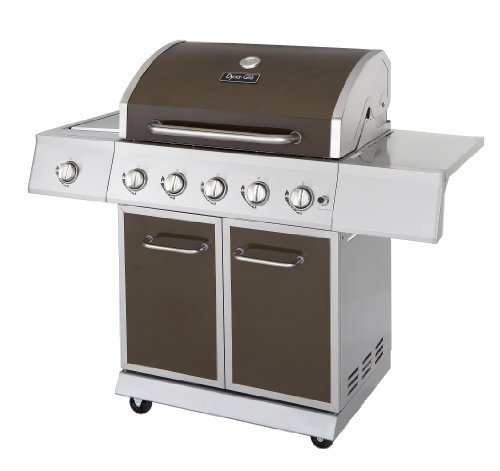 Dyna-Glo DGE530BSP-D 5-Burner 62,000 BTU Propane Gas Grill with Side Burner