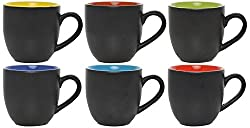 Somny Ceramic Tea Cup, 110 ml, Set of 6