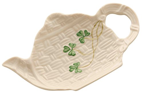Belleek Group 1649 Shamrock Spoon Holder, 5.6-Inch, White