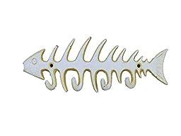Antique White Cast Iron Fish Bone Key Rack 8\