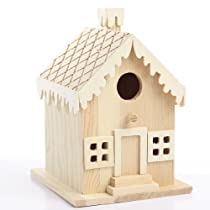 Unfinished Wood Assembled Gingerbread Birdhouse