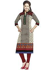 JAIPUR FABRICS Ethnicwear Women's KURTI FABRICS MULTI-COLOURED_Free Size