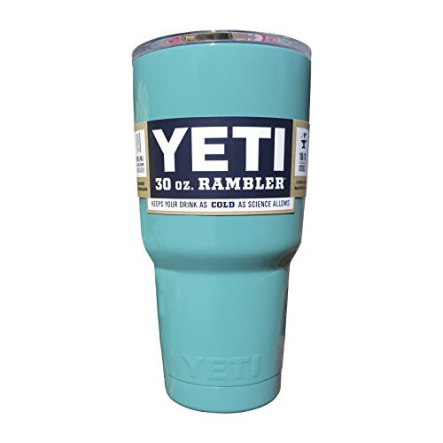 YETI Coolers Rambler Tumbler, Stainless Steel, 30oz, One Size (Teal Blue)