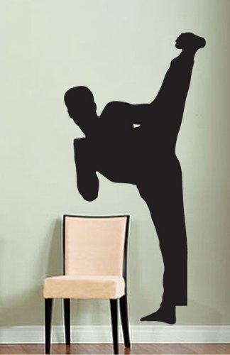 Vinyl Wall Art Decal Sticker Karate Kick Martial Arts 6ft Tall