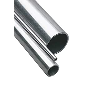 "Stainless Steel 304 Seamless Round Tubing, 3/4"" OD, 0.68"" ID, 0.035"" Wall, 36"" Length"