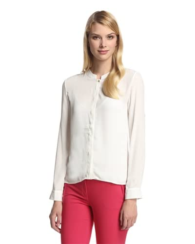 Trend Tahari Women's High-Low Button-Up Shirt