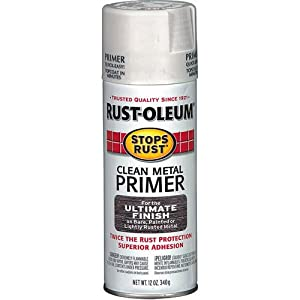 Rust Oleum 7780830 Stops Rust Spray Paint 12 Ounce Flat White Clean Metal Primer Spray