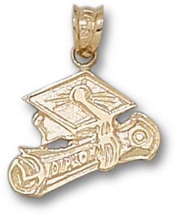 Graduation Cap and Diploma Pendant - 10KT Gold Jewelry