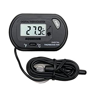 Digital Aquarium Terrarium Thermometer ST-3 Black