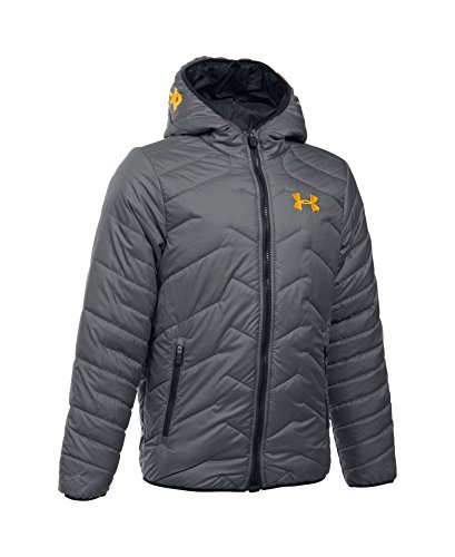 Under Armour Boys' ColdGear Reactor Hooded Jacket, Graphite (040), Youth Small