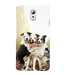 99Sublimation Three Cute Dog giving pose 3D Hard Polycarbonate Back Case Cover for Lenovo Vibe P1m