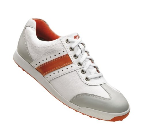 FootJoy 2013 Contour Casual Athletic Golf Shoes : White-Orange-Grey 9 W ellesse toppo overhead hoody athletic grey marl