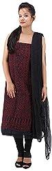 RV's Collection Women's Cotton Unstitched Salwar Suit Piece (Black , RB-27)